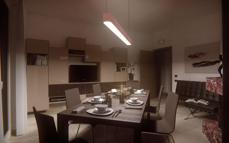 Sala da pranzo progetto modellazione 3d e rendering for Sala da pranzo versace